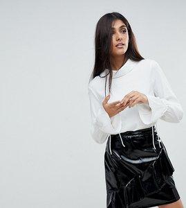 Read more about Vero moda tall tie cuff blouse - white