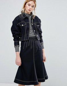 Read more about Sportmax code alcamo denim look jacket co-ord - navy