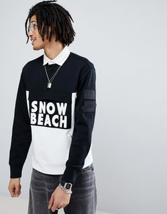 Read more about Polo ralph lauren snow beach limited capsule rugby polo in black white - polo black white