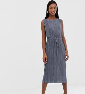 Read more about Asos design tall midi plisse dress with drawstring waist