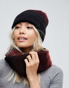 Read more about French connection knitted scarf and beanie hat set - black