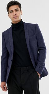 Read more about Asos super skinny texture blazer in navy wool mix - navy