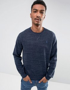 Read more about Polo ralph lauren crew neck jumper cotton in navy marl