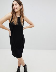Read more about Monki jersey sleeveless mini t-shirt dress - black