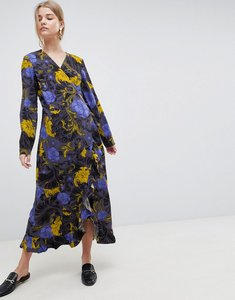 Read more about Selected sonja floral wrap midi dress - flower aop