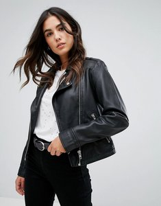 Read more about Barney s originals leather jacket - black