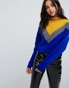 Read more about Prettylittlething colourblock jumper - multi