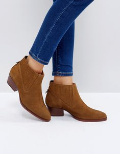 Read more about Hudson london ernest tan suede flat ankle boots - tan suede