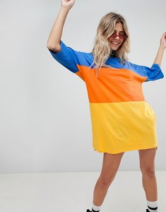 Read more about The ragged priest oversize t-shirt dress in colour block - multi