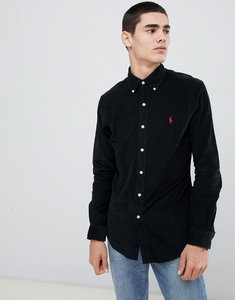 Read more about Polo ralph lauren slim fit fine cord shirt player logo button down in black