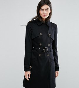Read more about Asos tall classic trench coat - black
