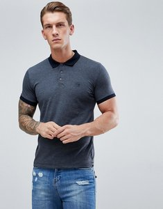 Read more about French connection polo shirt with contrast collar - navy