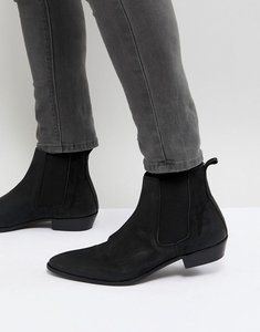 Read more about Walk london ziggy leather chelsea boots in black - black