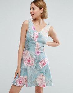 Read more about Closet london garden floral print skater dress - multi