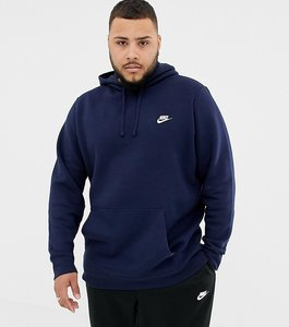 Read more about Nike plus club swoosh pullover hoodie in navy 804346-451 - navy