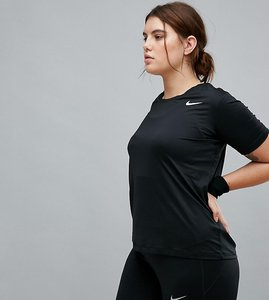 Read more about Nike plus training short sleeve tee in black - black