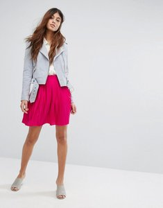 Read more about Vero moda pleated mini skirt - beetroot purple