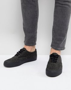 Read more about Asos lace up plimsolls in black warm handle - grey