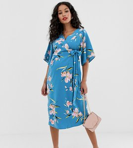 Read more about Mamalicious maternity floral wrap midi dress