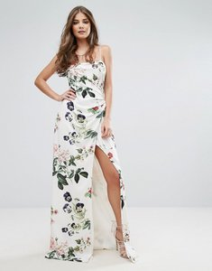 Read more about Stylestalker printed wrap maxi dress - floral print