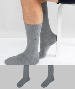 Read more about Tommy hilfiger classic 2 pack sock in grey - grey