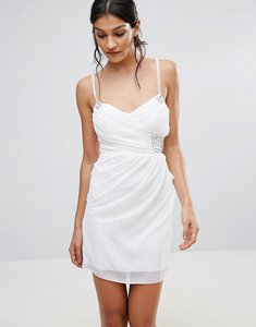 Read more about Pussycat london embellished prom dress - white