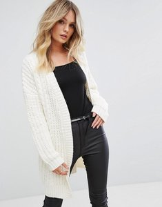 Read more about Supertrash caymon open cable knit cardigan - off white