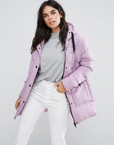 Read more about Brave soul mid padded coat - lilac