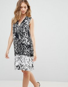Read more about French connection copley crepe print shift dress - black summer white