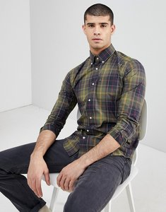 Read more about Barbour herbert slim fit classic check shirt in green - green