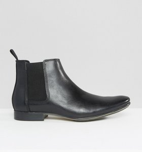 Read more about Frank wright leather chelsea boots - black