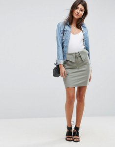 Read more about Asos mini skirt with circle trim belt - green