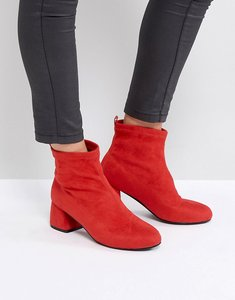 Read more about Park lane heeled ankle boots - red micro
