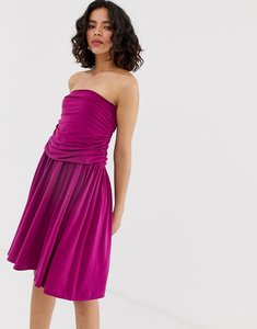 Read more about Warehouse ruched midi skirt - purple