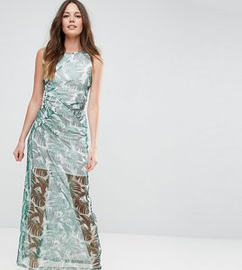 Read more about Asos tall palm print city maxi dress - tropical