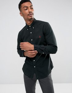 Read more about Polo ralph lauren slim fit shirt garment dye buttondown in black - rl black