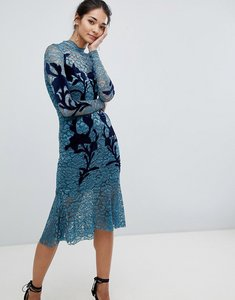 Read more about Hope ivy floral applique dress - teal