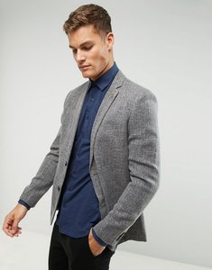 Read more about Farah skinny textured blazer - grey