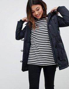 Read more about Brave soul parka with faux fur trim hood - navy black