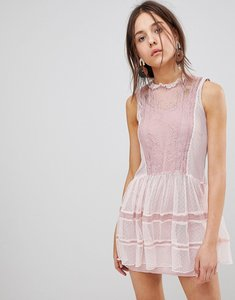 Read more about Glamorous mesh dress - dusty pink