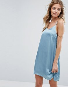 Read more about Glamorous satin cami dress - blue