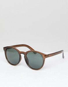 Read more about Asos round sunglasses with fine frame - brown