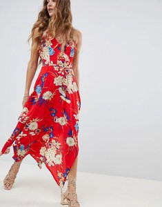 Read more about Love other things floral frill maxi dress - red