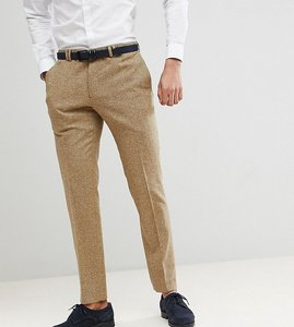 Read more about Noak skinny wedding suit trousers in fleck - stone