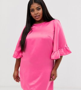 Read more about Junarose frill sleeve shift dress - pink