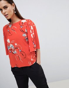 Read more about Y a s floral print top with kimono sleeve