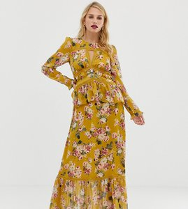 Read more about Forever new maxi dress with lace details in floral print