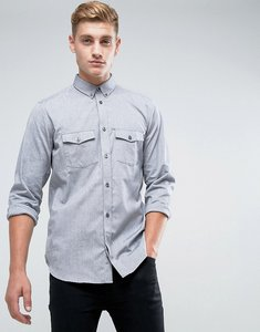 Read more about French connection slim fit shirt with double pocket - black