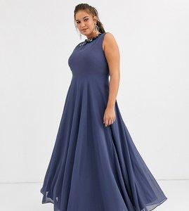 Read more about Asos design curve maxi dress with 3d floral embellished neckline