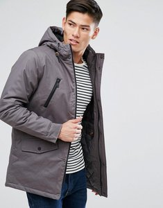 Read more about Brave soul hooded bonded parka - grey